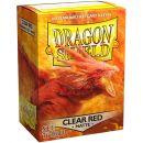 Протекторы Dragon Shield (100 шт., 63x88 мм): прозрачные матовые красные