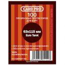 Протекторы Card-Pro Euro Tarot прозрачные (100 шт., 63x115 мм)