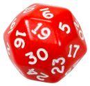 Кубик D30 непрозрачный, красный