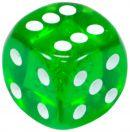 """Кубик D6 """"Драгоценный камень""""15мм, зеленый"""