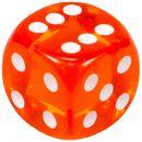 """Кубик D6 """"Драгоценный камень"""", 15мм, оранжевый"""