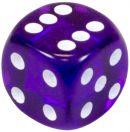 """Кубик D6 """"Драгоценный камень"""", 15мм, фиолетовый"""