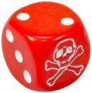 """Кубик D6 """"Судьбы"""", красный"""