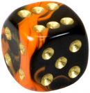 """Кубик D6 """"Забвение"""" 12мм, оранжевый"""