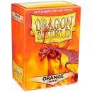 Протекторы Dragon Shield (100 шт., 63х88 мм): матовые оранжевые