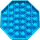 Игрушка-антистресс Pop It Восьмиугольник (голубая)
