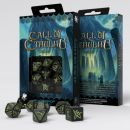 Набор кубиков Call of Cthulhu, 7 шт., Dice Black & glow-in-the-dark