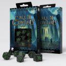 Набор кубиков Call of Cthulhu, 7 шт., Black/Green
