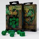 Набор кубиков Celtic 3D Revised, 7 шт., Green/Black