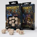 Набор кубиков RuneQuest, 7 шт., Beige/Burgundy