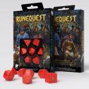Набор кубиков RuneQuest, 7 шт., Red/Gold