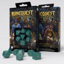 Набор кубиков RuneQuest, 7 шт., Turquoise/Gold
