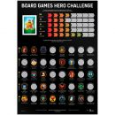 Скретч-постер Board Games Hero Challenge
