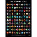 Скретч-постер Top 100 Board Games