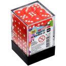 Набор из 36 кубиков D6, 12 мм, красный