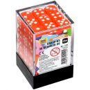 Набор из 36 кубиков D6, 12 мм, оранжевый